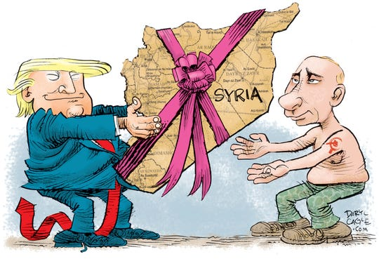 Trump Hands Syria to Putin.