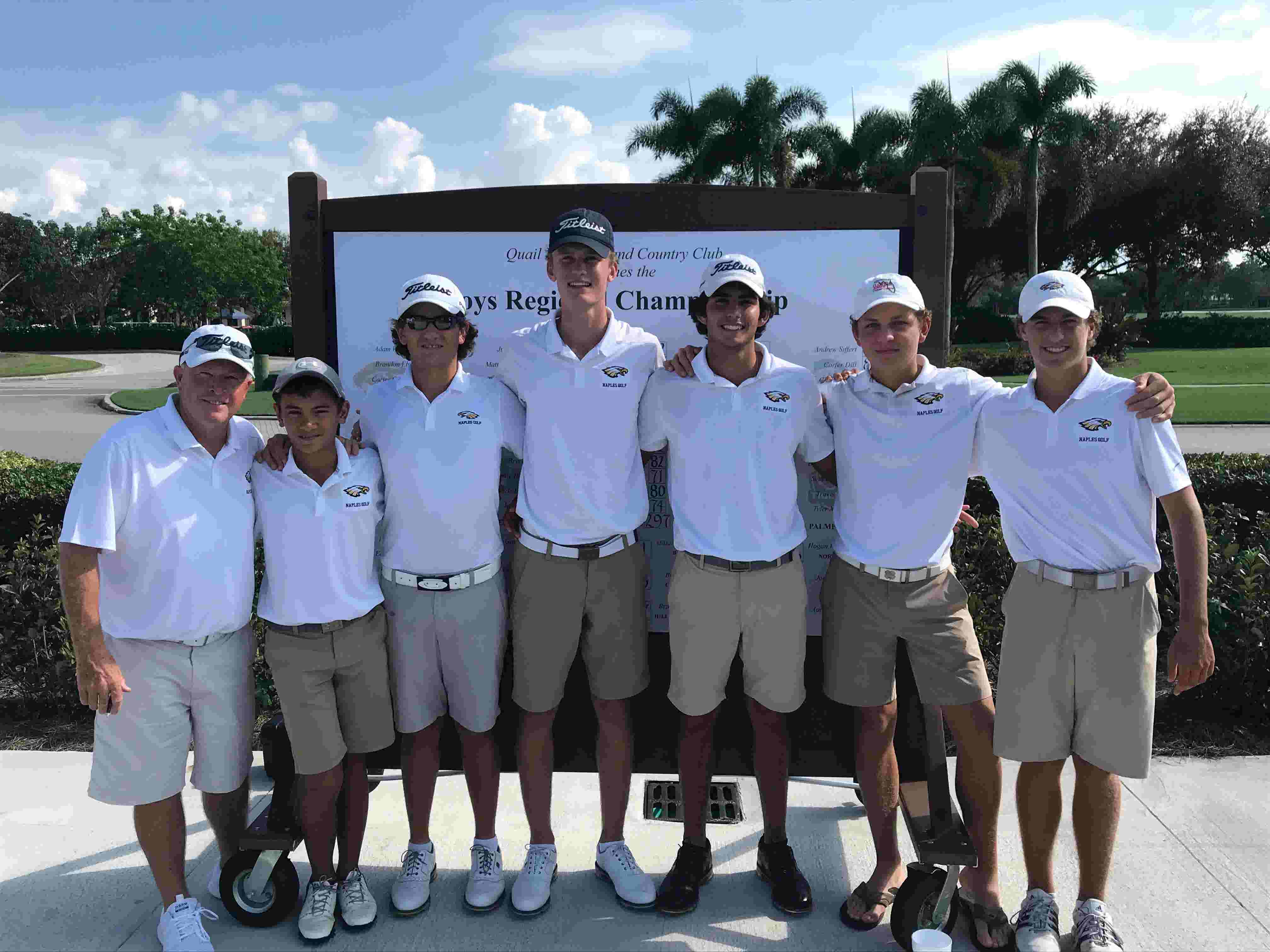 Watch: Naples High boys golf wins 2A-3 region title