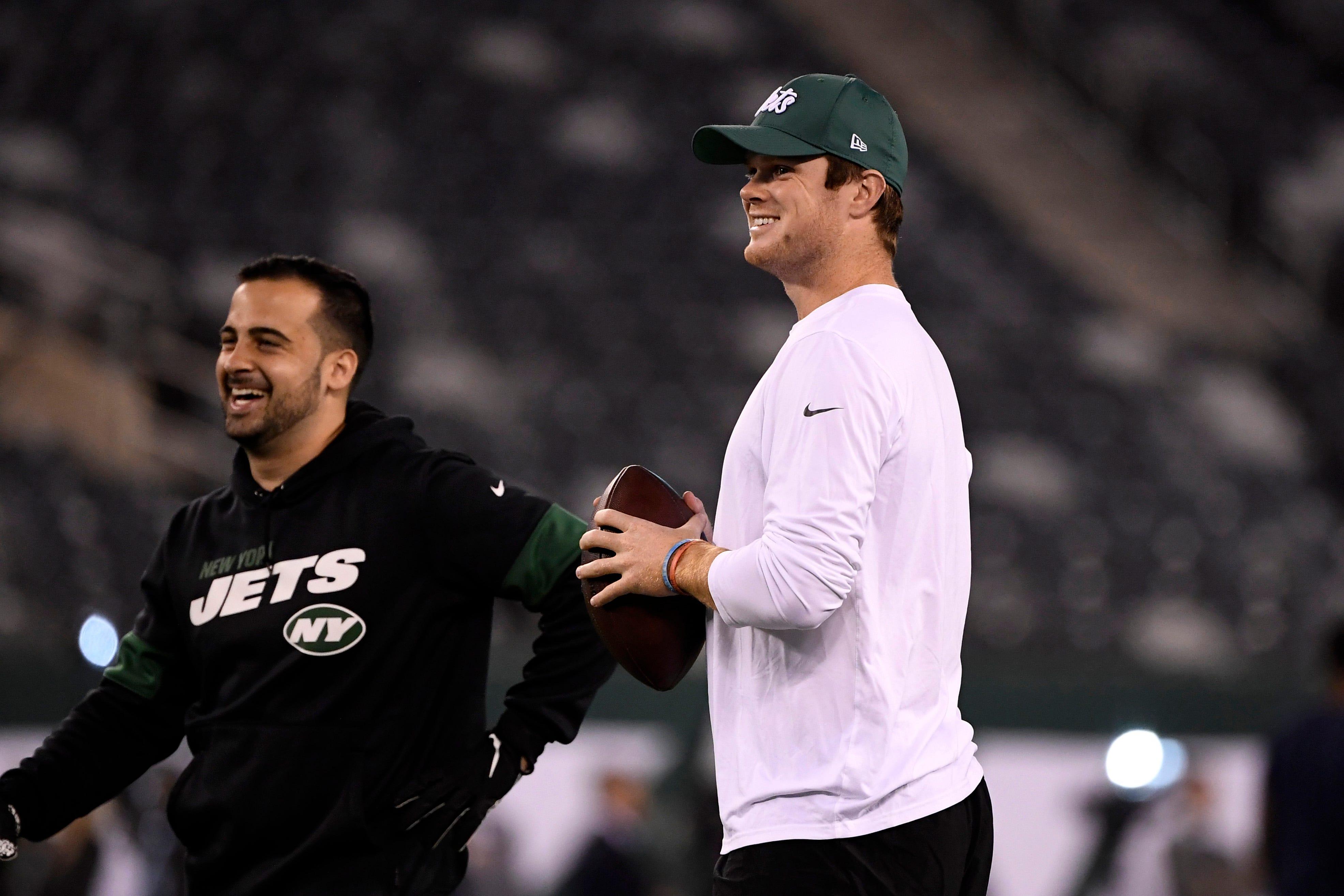Video Jets Warm Up Ahead Of Patriots At Metlife Stadium