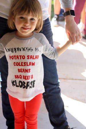 Victoria Williams, 3, had the perfect attire for the occasion.