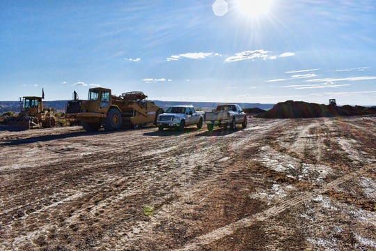 Crews are working to extend the end of a runway at Four Corners Regional Airport.
