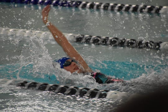 South Lyon swimmer Emma Cusumano made her state qualifying time in the 100 Backstroke.