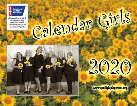 The cover of the Calendar Girls 2020 calendar.