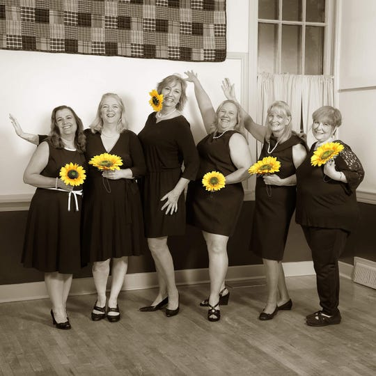 Pictured (from left) are Anne Munro, Jemma McCardell, Lonnie Curri, Beverly Shaw Monty, Sandy McCay and Sheryl Vachon.