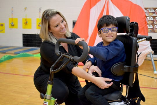 Cooke School adaptive physical education teacher Elizabeth Adams will be awarded with a prestigious state teaching award in November.