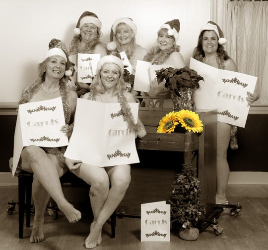 'Calendar Girls' models  Anne Munro, Jemma McCardell, Lonnie Curri, Beverly Shaw Monty, Sandy McCay and Sheryl Vachon pose for the cancer-fundraiser calendar.