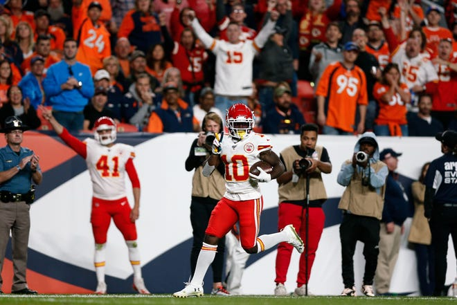 Kansas City Chiefs wide receiver Tyreek Hill is one of the league's most dynamic playmakers.