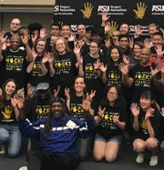 Hacks for Humanity has a photograph. The event is a 36 hour competition at Arizona State University to create technological solutions to everyday problems.