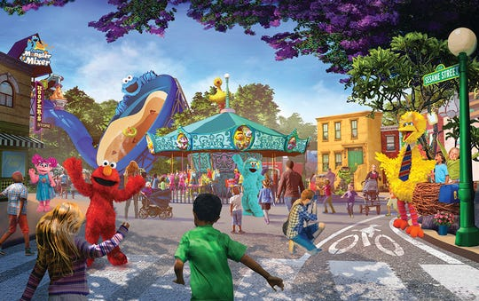 An artist rendering of Sesame Place, coming to SeaWorld San Diego in spring, 2021.