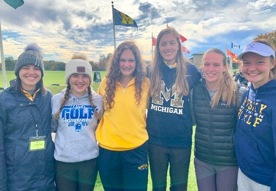 The Port Huron Northern girls golf team took eighth at the Division 2 state championship Oct. 18-19 at Forest Akers East at Michigan State University. Pictured is coach Jessie Freed with team members Karly Ward, Madison Bajis, Megan Schumacher, Allie Warren and Isabella Murray.