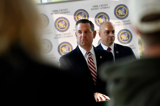 US Attorney Dave Freed, talks about a new partnership aimed at reducing violent crime in the City of York through a systematic data-driven approach, Monday, October 21, 2019.