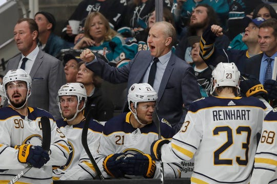 First-year Sabres coach Ralph Krueger has his team off to a 7-1-1 start. His up-tempo system requires players to think defense first, but offense has been plentiful because of it.