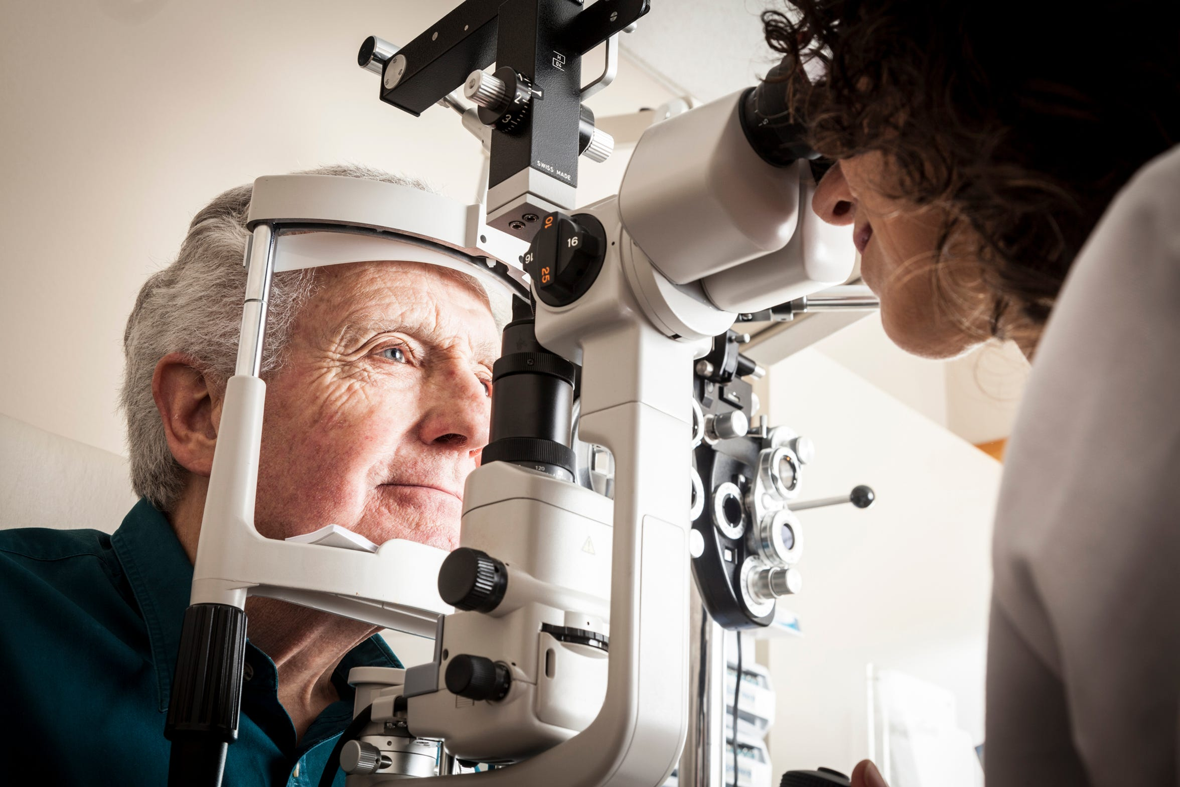 Patients with diabetes should schedule an annual vision screening, even if they don't have any vision problems or diabetic retinopathy symptoms.