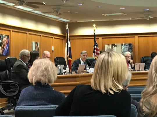 San Angelo ISD holds its regular school board meeting on Oct. 21, 2019