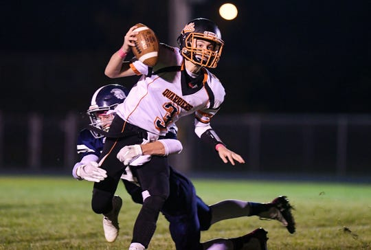 Dell Rapids quarterback Colin Rentz will be back for his senior season in 2020 where the Quarriers open against Lennox on August 28.