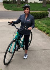 Keli McDonough prepares for a bike ride after having both knees replaced at Mercy Orthopedic Hospital Springfield.iovera therapy helped her take fewer pain medications after her second surgery, and she healed much faster.