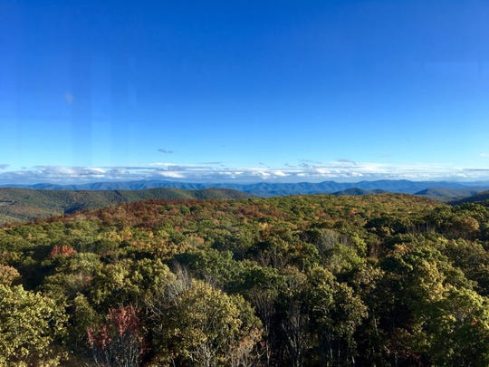 The view from Sounding Knob Fire Tower on Jack Mountain in Highland County. Photo taken the weekend of Oct. 12, 2019.