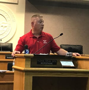 Republican candidate Neil Kester, who is challenging Augusta County Sheriff Donald Smith, held a press conference Monday morning at the Augusta County Government Center.