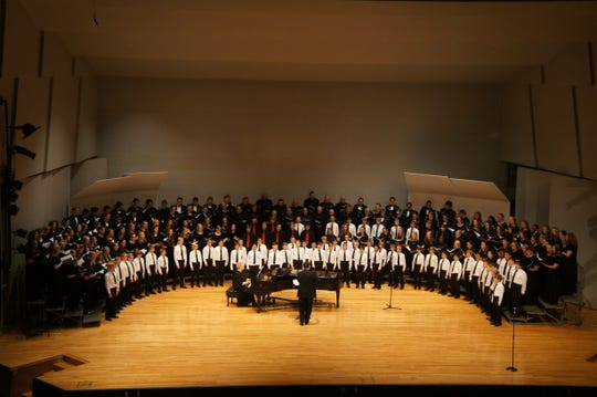 Singers come together to perform at the 2016 A Choral Community concert.