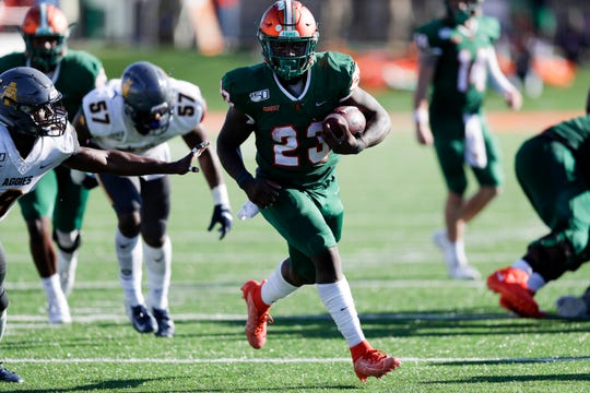 FAMU running back Terrell Jennings rushed for 57 yards on 12 carries in the 34-31 overtime win against North Carolina A&T at Bragg Memorial Stadium Sunday, Oct. 20, 2019.