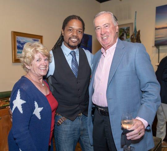 Charlene Roberts, left, Landau Eugene Murphy Jr. and John Roberts at Stuart's Lyric Theatre in November 2018.
