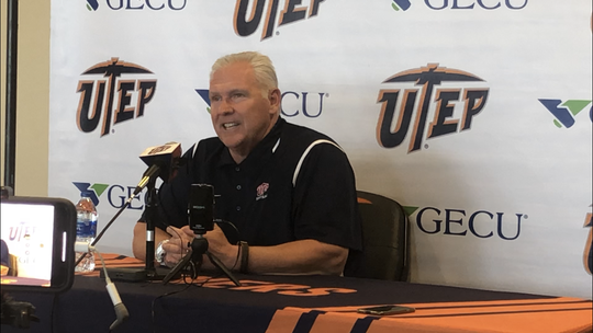 Dana Dimel talks about UTEP's upcoming game with Louisiana Tech during his weekly press conference Monday
