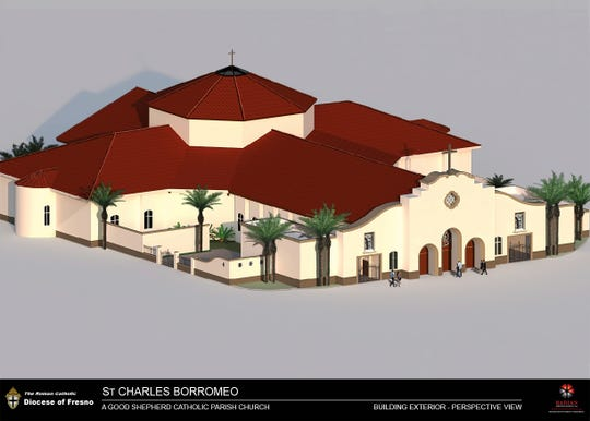 A rendering of St. Charles Borromeo Cathoic Church. Expected to open in spring 2021, the church will be the largest Catholic church in the western U.S.