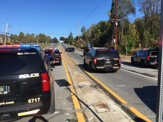 Part of Newport Gap Pike closed on Monday, Oct. 21, 2019, during a Delaware State Police investigation. New Castle County police also responded to assist.