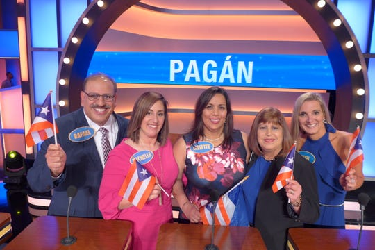 """Newark's Rafael Pagán and his family on the """"Family Feud"""" set. Their episode of the game show is expected to air Wednesday, Oct. 30 at 7:30 p.m. on CW Philly WPSG-TV."""