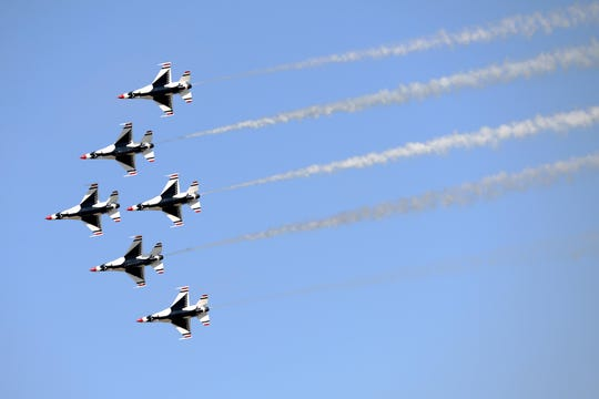 The U.S. Air Force Thunderbirds will fly again at 3:30 p.m. Saturday and Sunday this weekend as part of the free Guardians of Freedom Air Show and Open House from 9 a.m. to 4:30 p.m. both days at Sheppard Air Force Base.