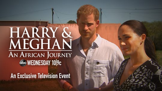The ITV film about Prince Harry and Duchess Meghan's tour of Africa aired on ABC in the U.S. on Oct. 23, 2019.