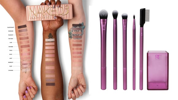 Best gifts for beauty 2019:  Urban Decay Naked3 Palette and Real Techniques Enhanced Eye Set