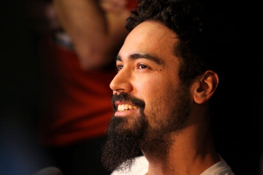 Anthony Rendon speaks to the media on Monday at Minute Maid Park.