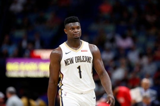 New Orleans Pelicans forward Zion Williamson.