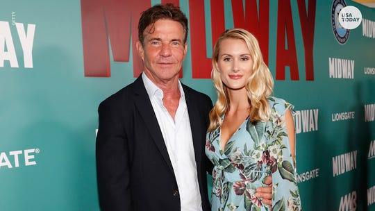 Dennis Quaid, 65, is engaged to 26-year-old Laura Savoie; his 'Parent Trap' fiancée reacts