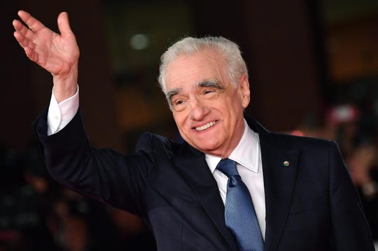 """Martin Scorsese arrives for the screening of """"The Irishman"""" at the 14th annual Rome Film Festival in Italy on Oct. 21, 2019."""