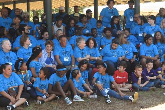 """The largestfirst-ever blended Compton family reunion involving descendants of African-American, Caucasian and """"every other nationality that has come up since """" took place overweekend here in Alexandria and Pineville."""