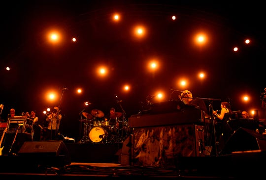 Donald Fagen, right, of Steely Dan performs onstage during day 1 of the 2015 Coachella Valley Music & Arts Festival (Weekend 1) at the Empire Polo Club on April 10, 2015 in Indio, California.