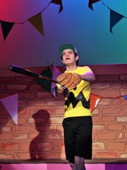"Charlie Brown (Jared Hainsel) grimaces after striking out again with the Little Red-Haired Girl in McMurry University's homecoming musical ""You're a Good Man, Charlie Brown,"" which is on stage this weekend at Ryan Little Theatre."
