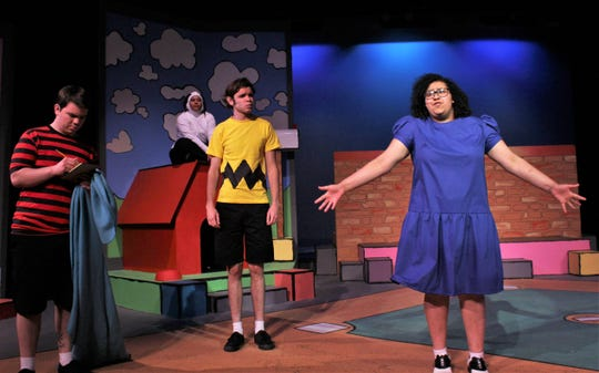 "Lucy (MaKenna Arispe) always has something to say, and Linus (Kevin Roberts), Snoopy (Victoria Picon) and Charlie Brown (Jared Hainsel) have no choice but to listen in McMurry University's homecoming musical ""You're a Good Man, Charlie Brown,"" which is on stage this weekend at Ryan Little Theatre."