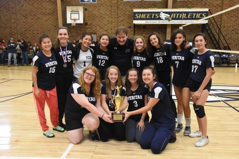Veritas Christian Academy won a state volleyball title over the weekend