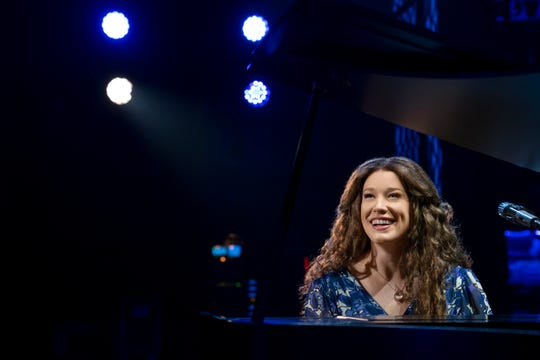 "Kennedy Caughell performs as Carole King in the tour of  ""Beautiful: The Carole King Musical."""