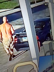 This unidentified man was captured on surveillance cameras stealing a Brevard Humane Society donation jar from Island Gas on Merritt Island.