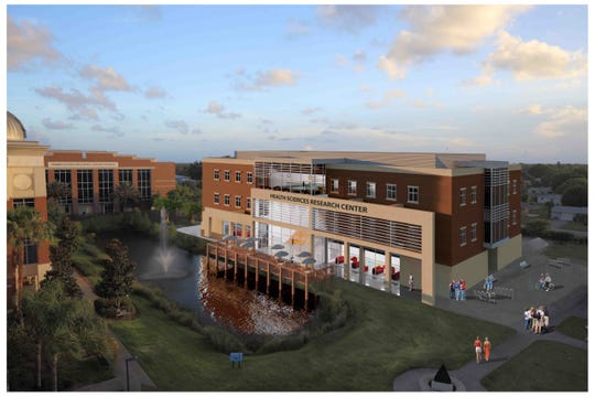 A digital model of Florida Tech's new Health Sciences Research Center, scheduled for completion in the fall of 2022.