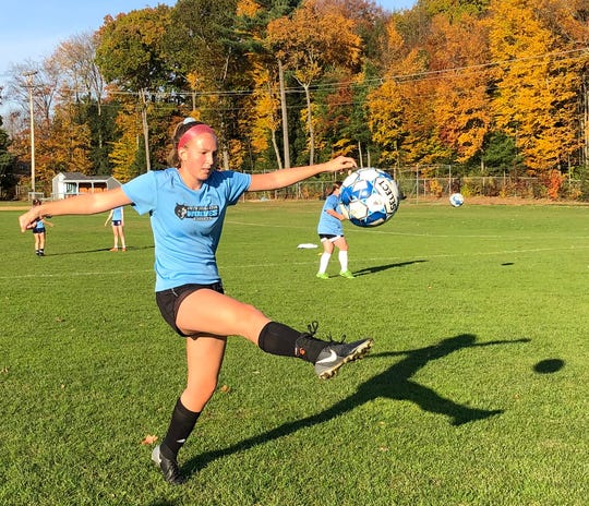 Erin Heslop at South Burlington High soccer practice on October 21, 2019.