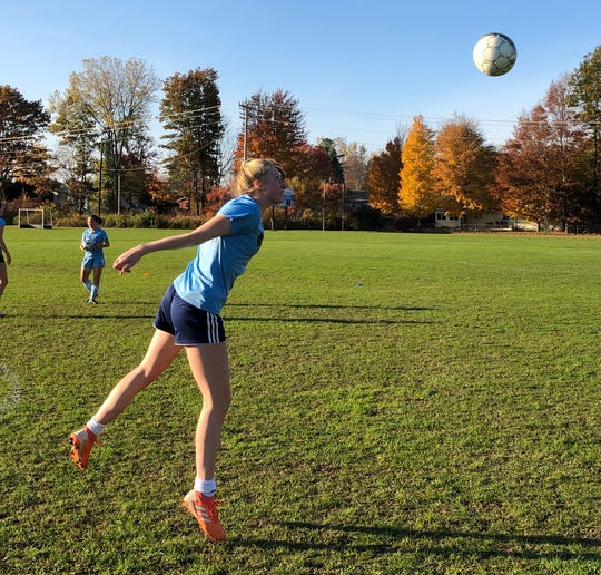 South Burlington High School girls soccer practice