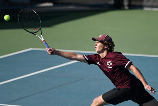 Flour Bluff and Veterans Memorial face off in the Region IV quarterfinals, Tuesday, Oct. 22, 2019, at the HEB Tennis Center.
