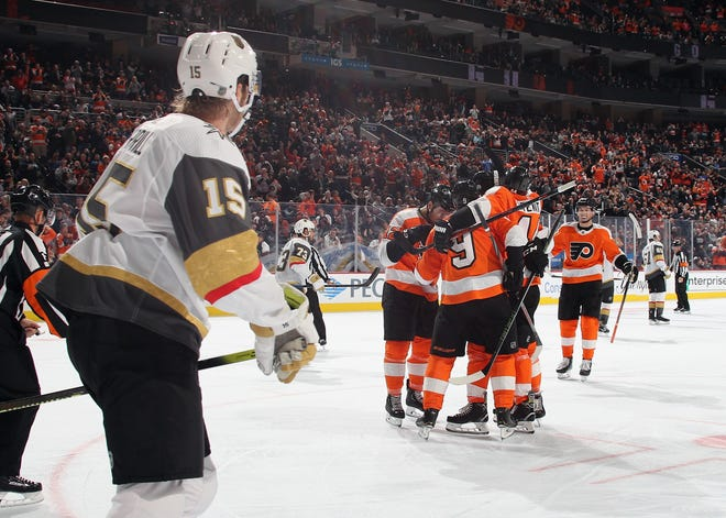 The Flyers exploded for six goals Monday night after averaging less than two in the previous four games.