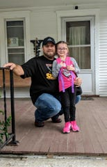 Jay Wynkoop and one of his daughter's on her first day of school.