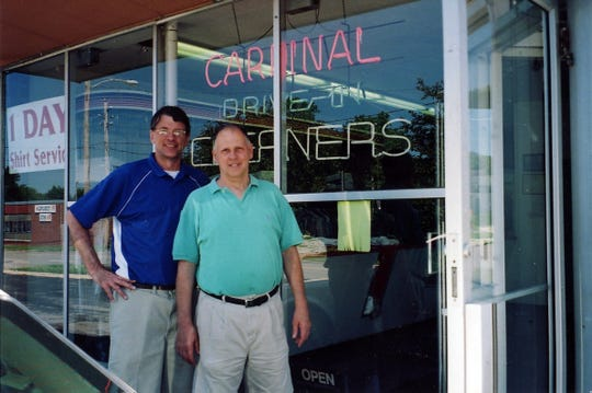 Joe and Jim Saluri have been cleaning and pressing clothes at Cardinal Cleaners, located at 1245 21st St. in Des Moines, for 48 years — from their teenage years through grandfatherhood.